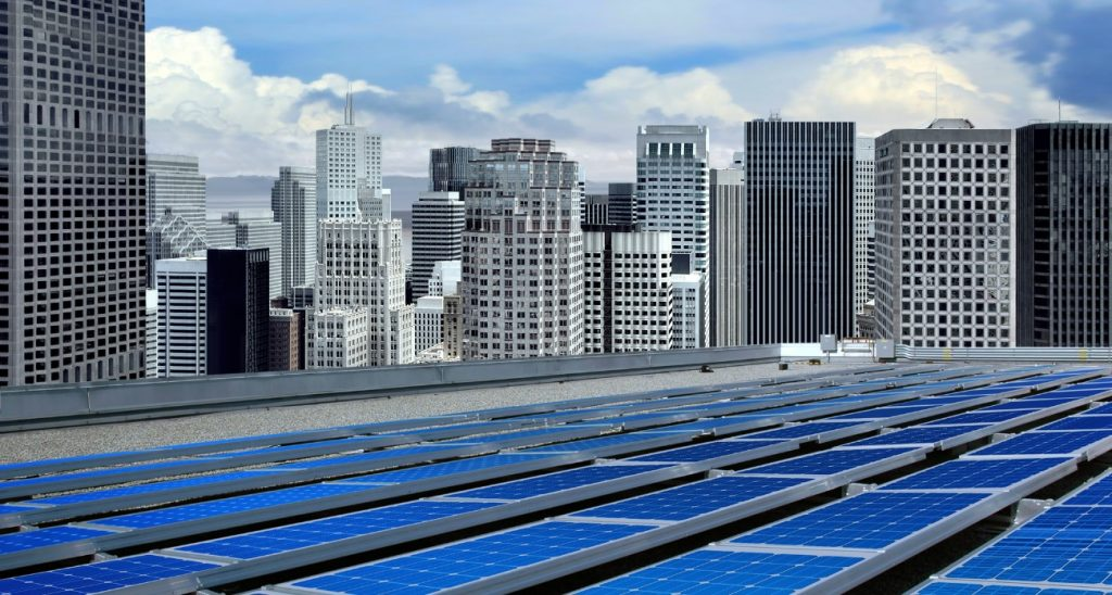 corporate building pv system efficiency of use
